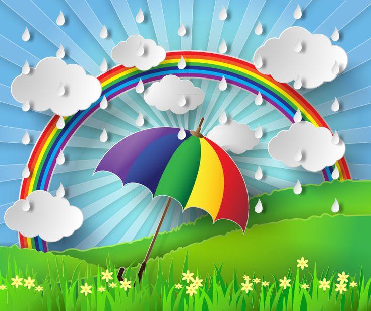 Beautiful clipart of rainy season.