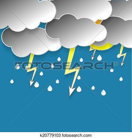 Rainy Sky Clipart.