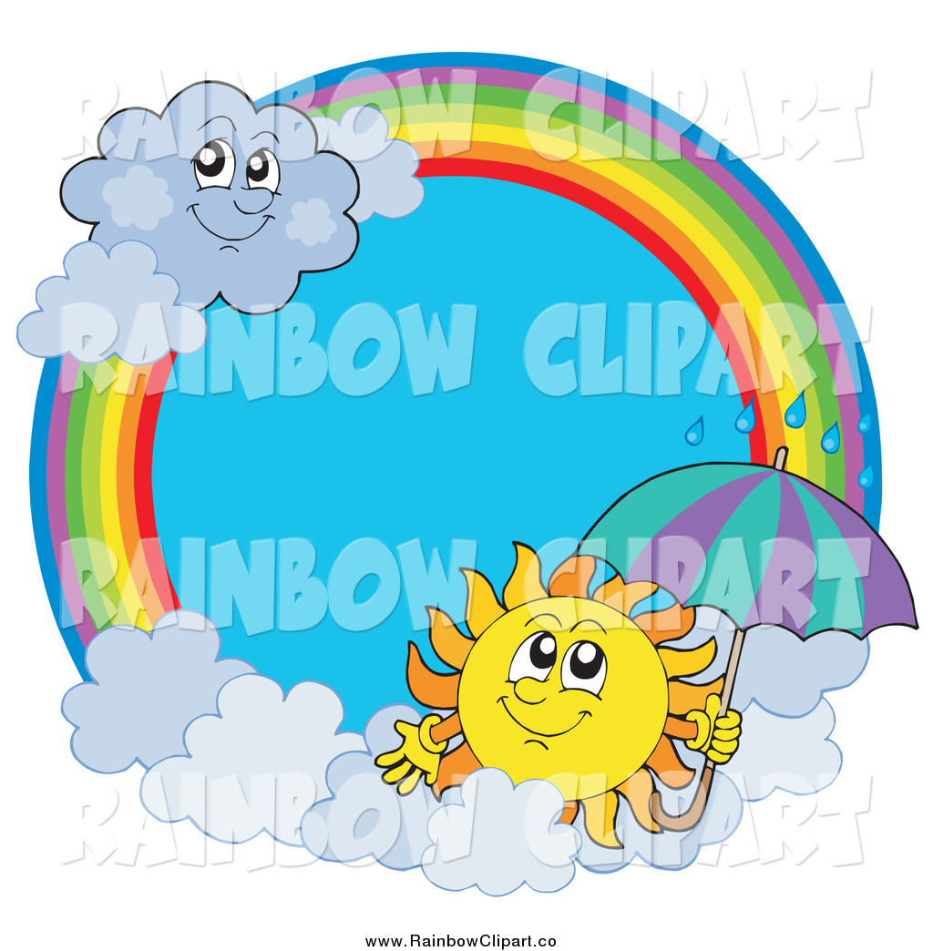 Royalty Free Rainy Stock Rainbow Designs.