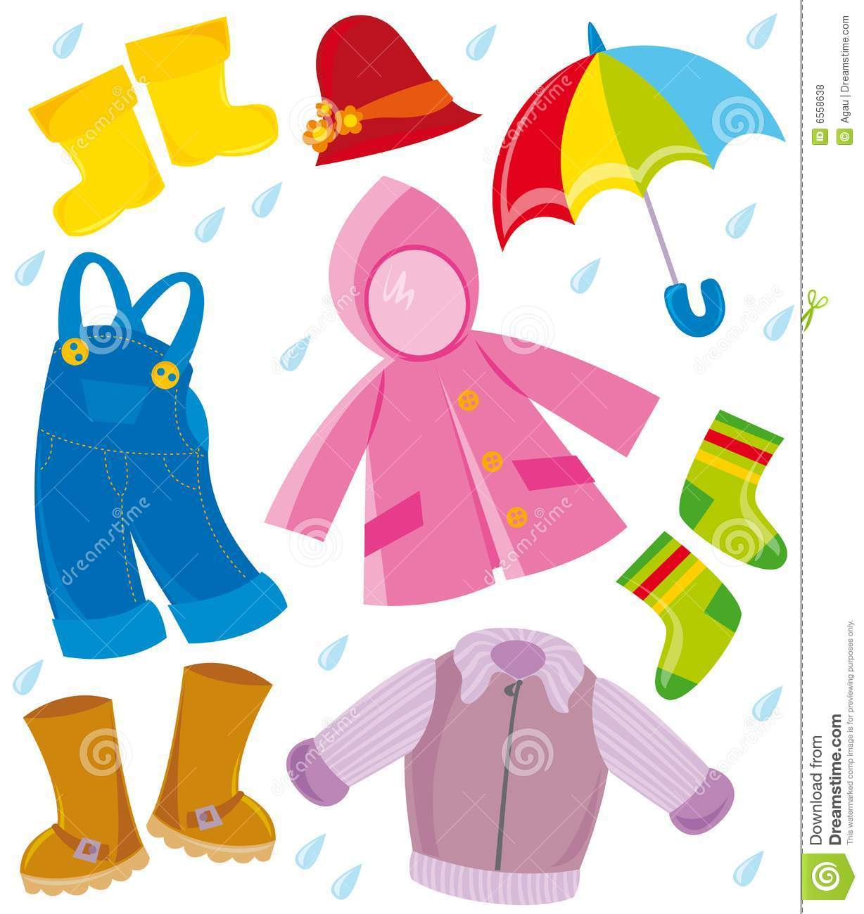 Clothes During Summer Clipart.