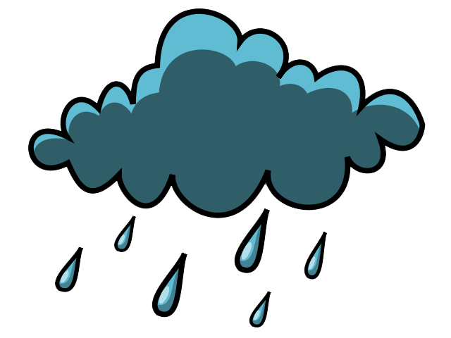 Partly cloudy weather clipart image cloudy with rain.