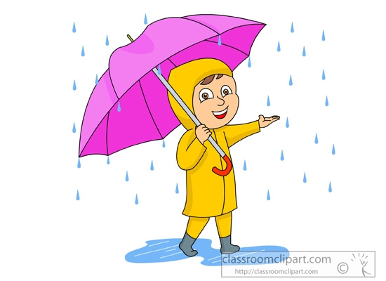 Rainy Weather Clip Art.