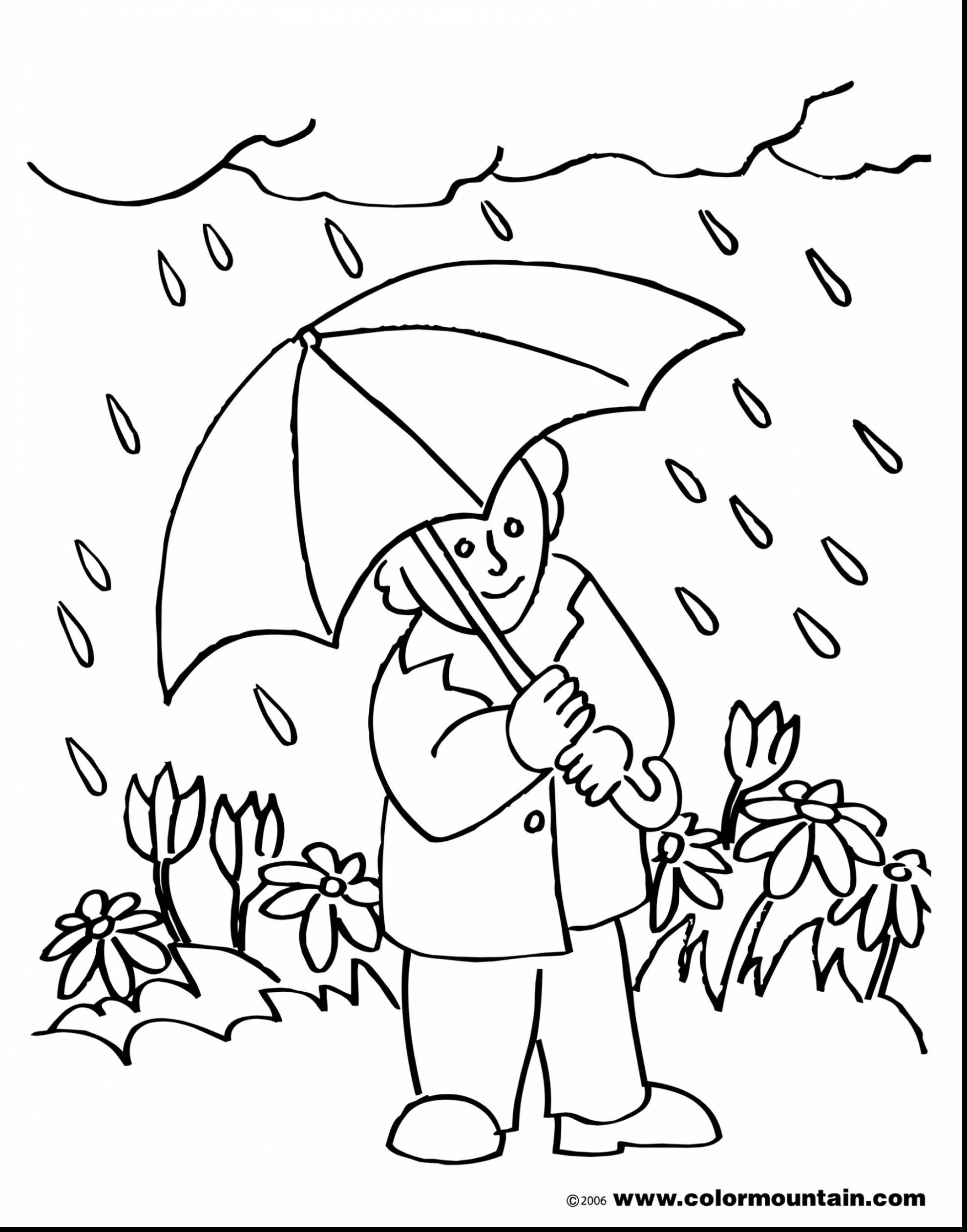 Rainy weather clipart black and white clipground for Rainy day coloring pages