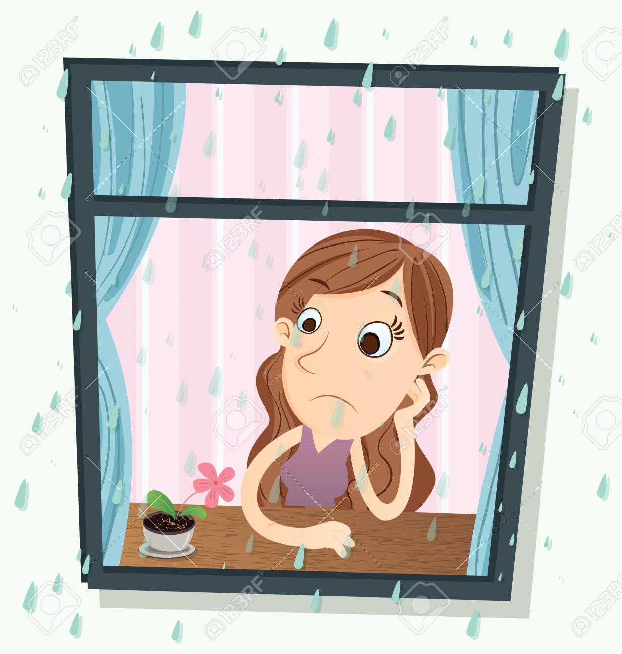 Rain On Window Clipart.