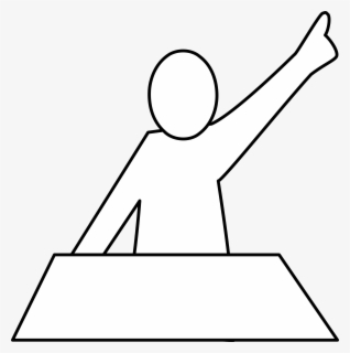 Free Raised Hand Clip Art with No Background.