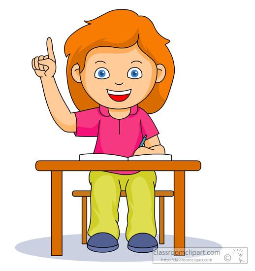 raising your hand clipart #5