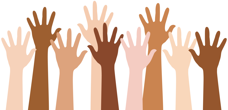 People Raising Hands.