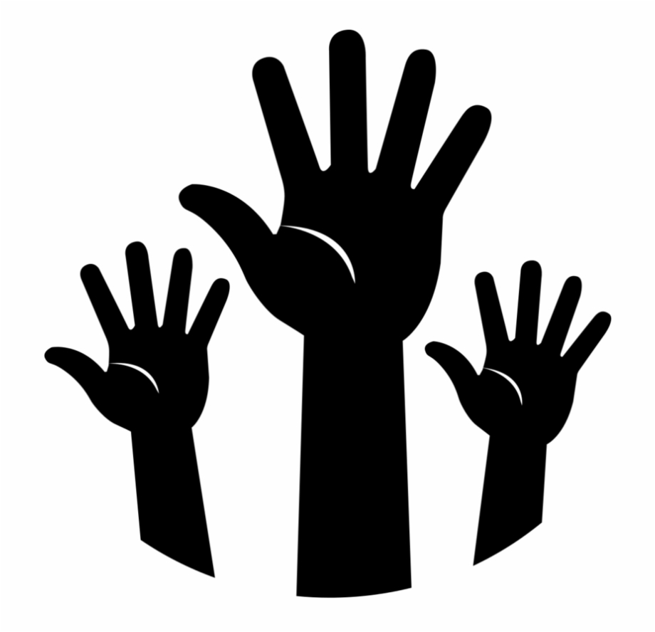 Raised Hands Png.
