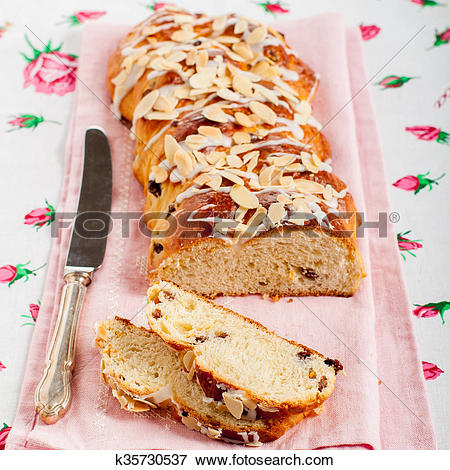 Picture of Sliced Braided Sweet Bread k35730537.