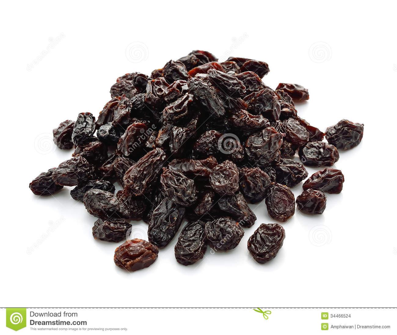 Dried Raisins Stock Images.