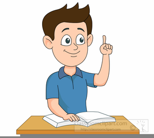 Student Raising Hand Clipart.