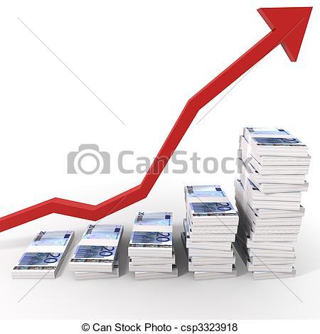 Stock Illustration of Euro Money Chart.