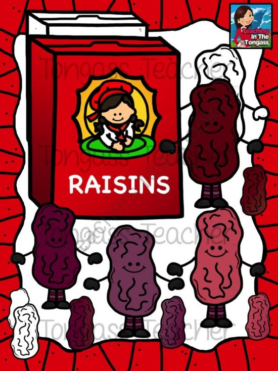 Raisins Clipart Bundle from tongassteacher on TeachersNotebook.com.