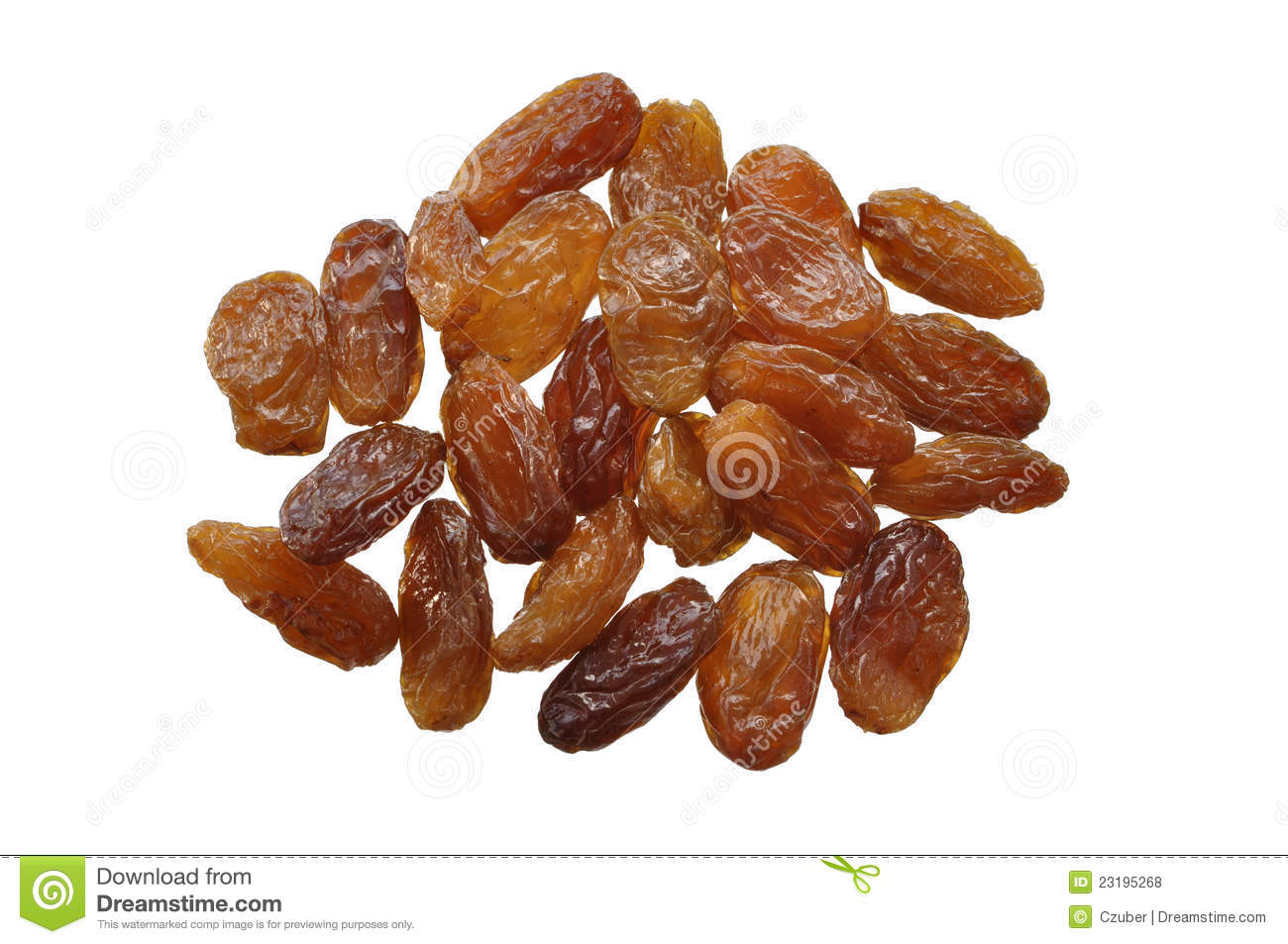Golden Raisins Royalty Free Stock Photos.