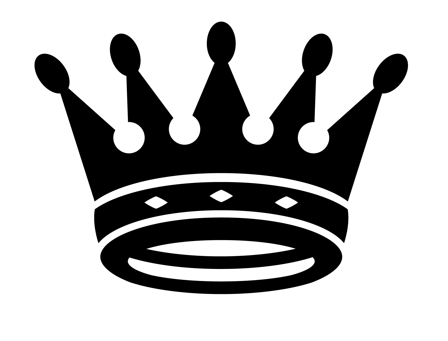 queen crown clipart black and white - Clipground