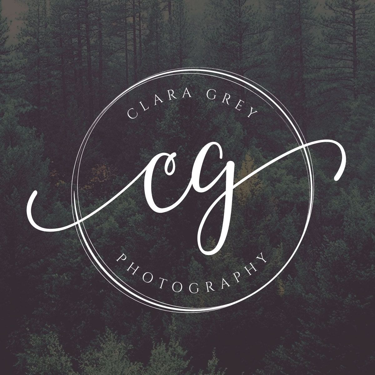 Circle Logo, Initials Logo, Photography Logo Design.