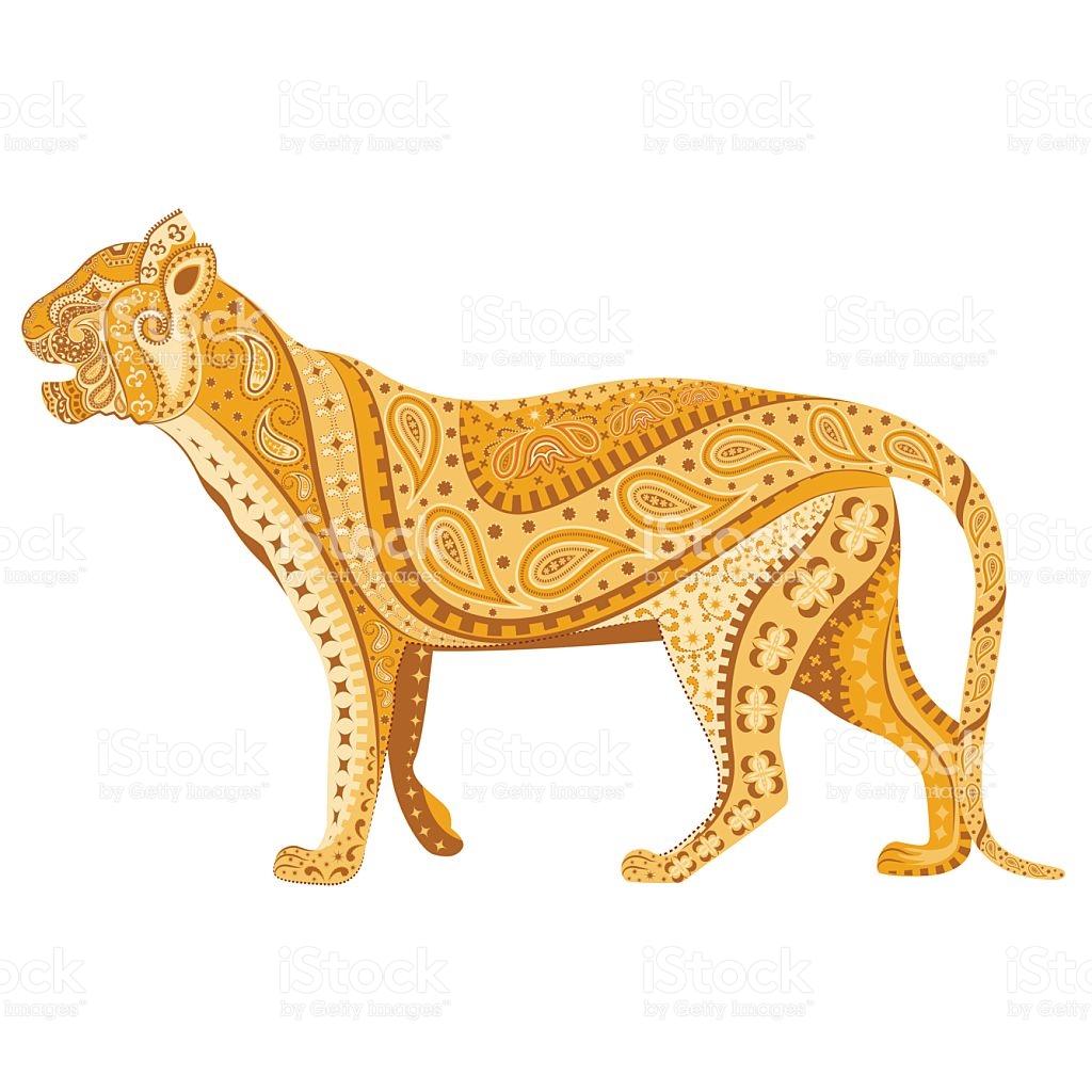 Indian Tiger stock vector art 499739639.