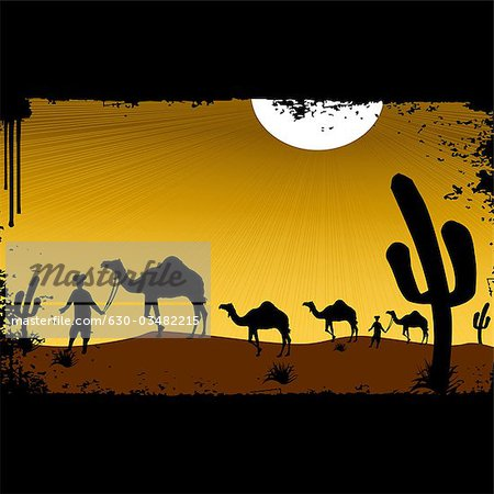 Rajasthan desert clipart.