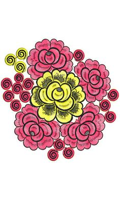 Rajasthani Scarf Embroidery Design.
