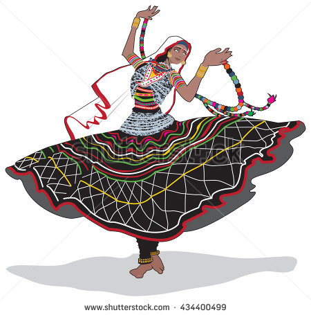 Indian Dance Stock Images, Royalty.