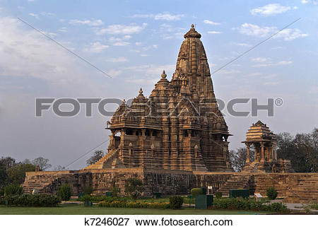 Picture of Hindu temple, built by Chandela Rajputs k7246027.