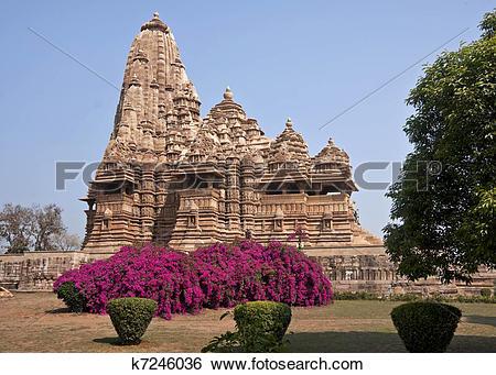 Stock Images of Hindu temple, built by Chandela Rajputs k7246036.