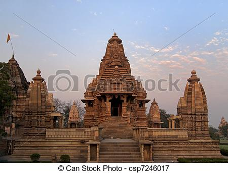 Picture of Hindu temple, built by Chandela Rajputs.