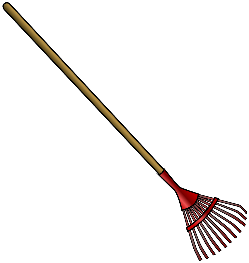 Rake And Leaves Clip Art.
