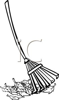 Rake Clip Art Black And White.