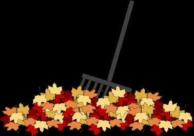 Leaf raking clipart.