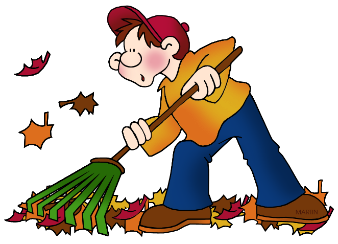 Rake leaves clipart.