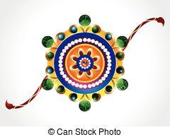 Raksha bandhan theme rakhi Vector Clipart Royalty Free. 168 Raksha.