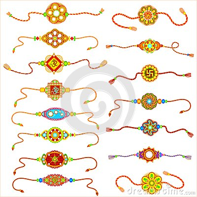 Decorated Rakhi Stock Images.