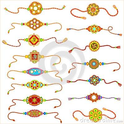Decorated Rakhi Stock Images.