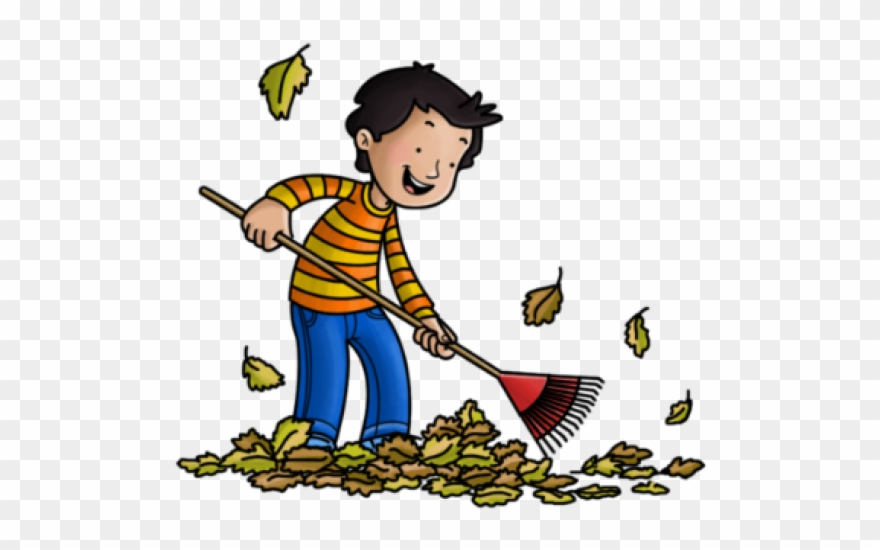 Janitor Clipart Sweeping Leave.