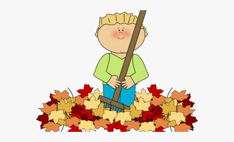 Raking Leaves Clip Art #863554.