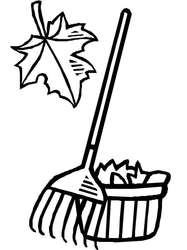 Raking Leaves Clip Art.