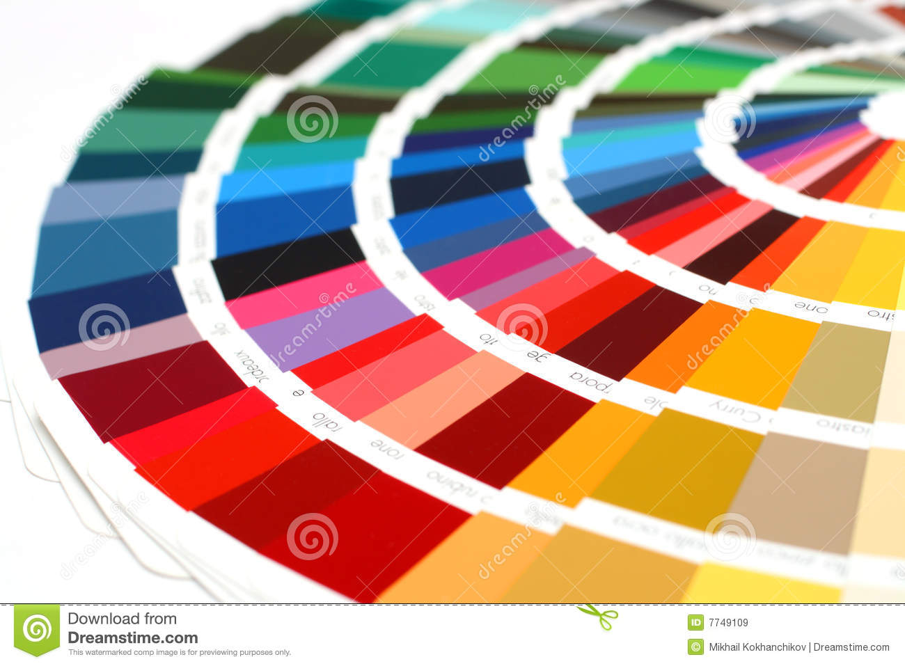 RAL Sample Colors Catalogue Royalty Free Stock Images.