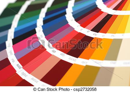 Pictures of RAL sample colors catalogue.