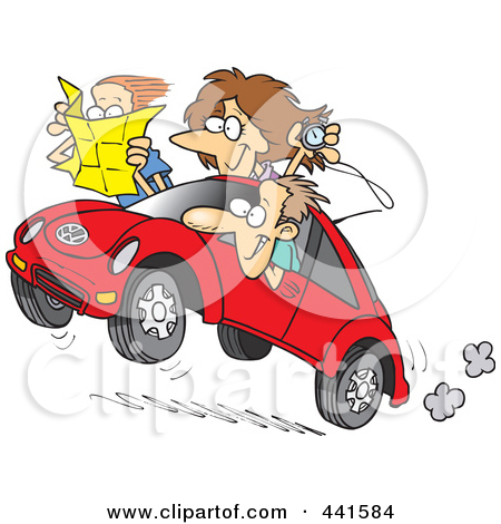 Road rally clipart.
