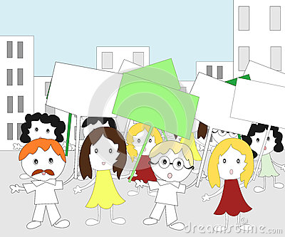 People rally clipart.