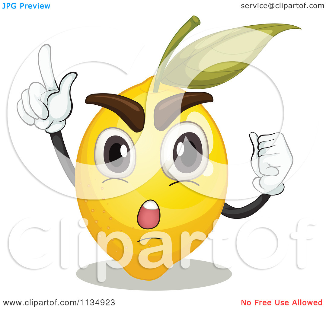 Cartoon Of A Rallying Lemon.