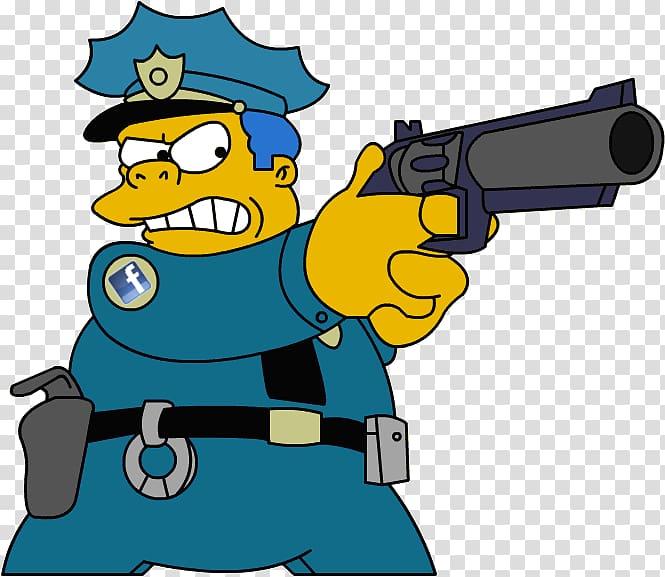 Chief Wiggum Ralph Wiggum Homer Simpson Maggie Simpson Lisa.