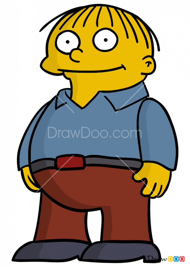 How to Draw Ralph Wiggum, The Simpsons.