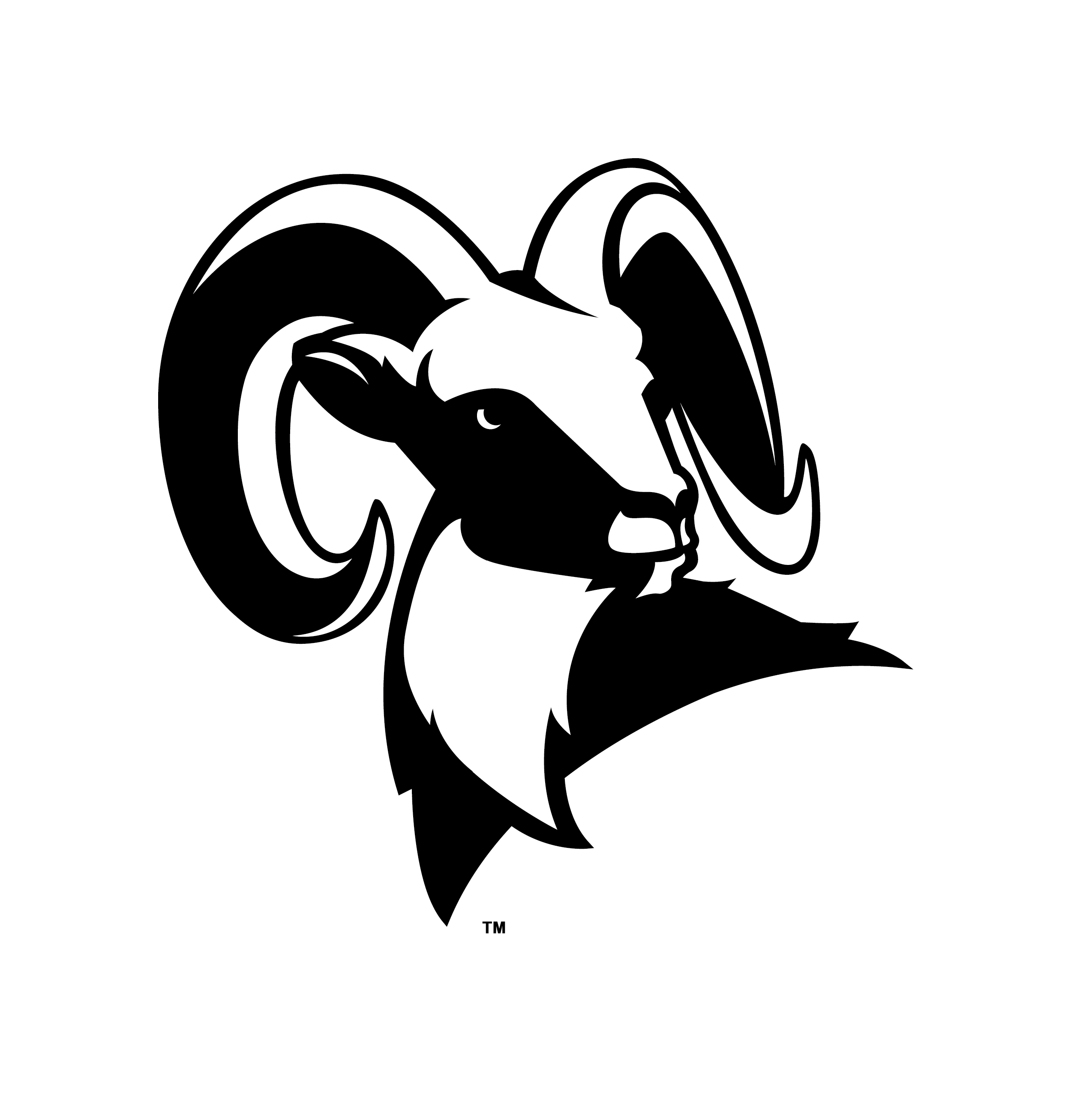 Ram Head Logo Clip Art free image.