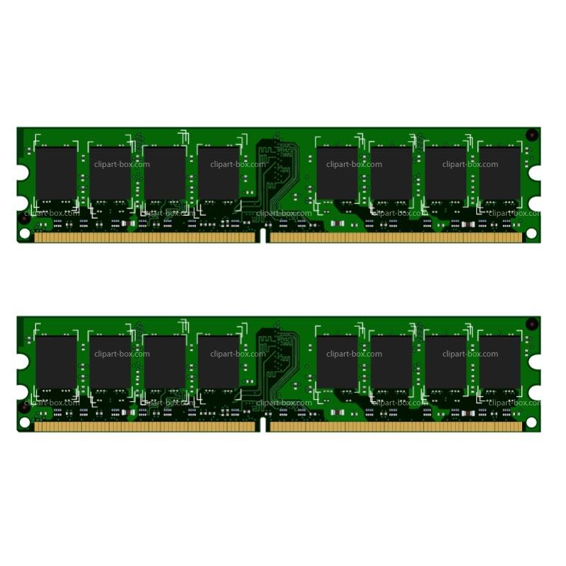 CLIPART COMPUTER RAM MEMORY.