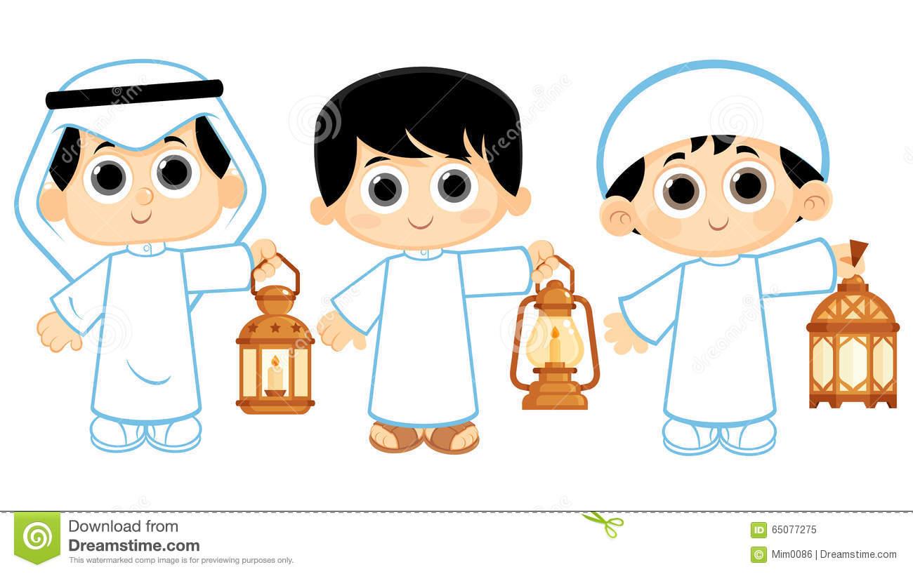 Ramadan for kids clipart.