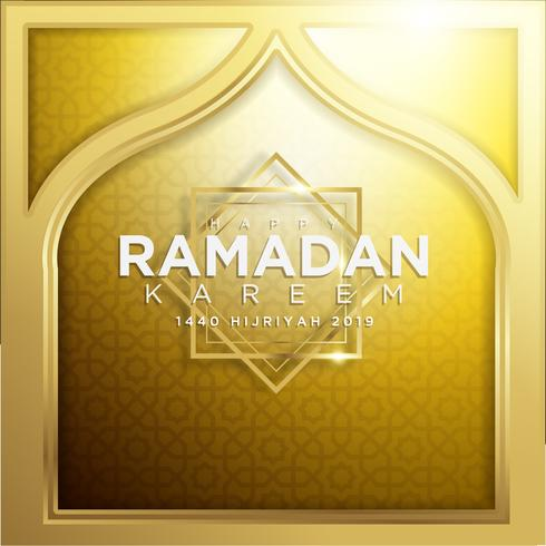 Gold Ramadan Kareem Background 1440 Hijr with Ramadan Kareem.