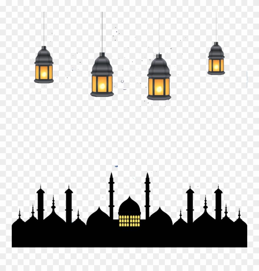 Ramadan Kareem Lamps Png Image.