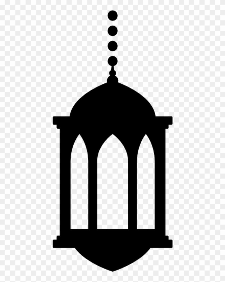 Silhouette Ramadan Lantern Png Clipart (#749244).